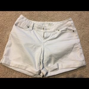 The Limited White Cuffed Denim Shorts